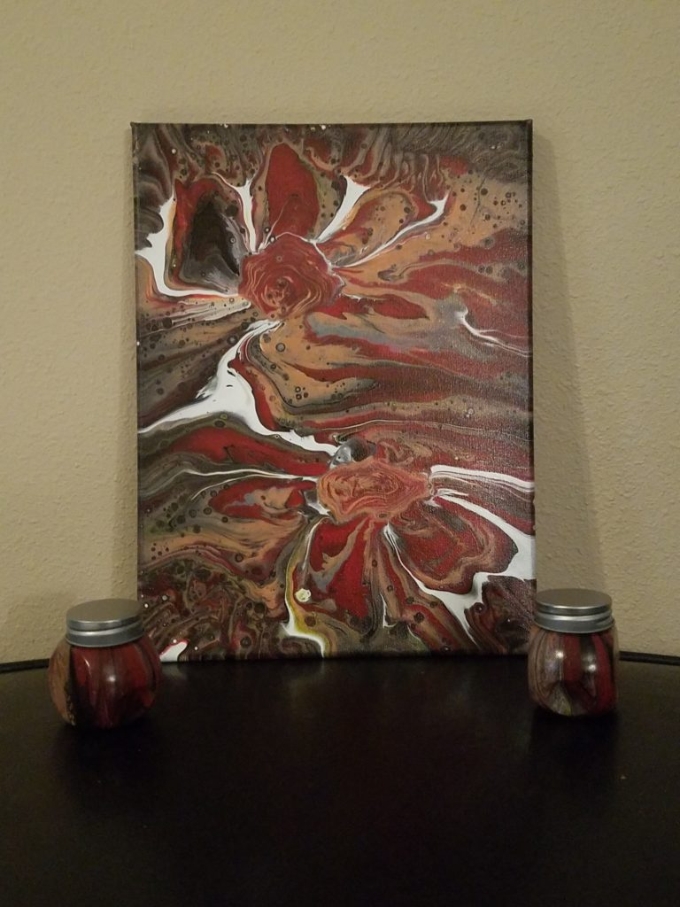 """Fire Daisy's"" 9x12 Glow in the dark 2 jars included $60"