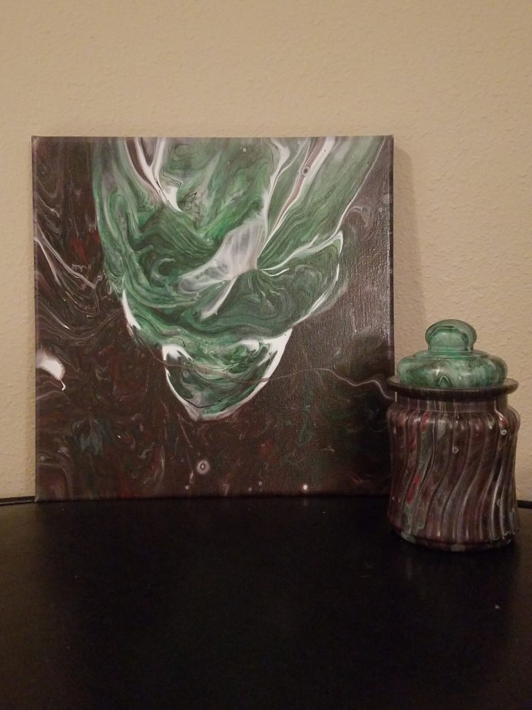 "10x10 Glow in the dark ""Green Goblin"" $60"